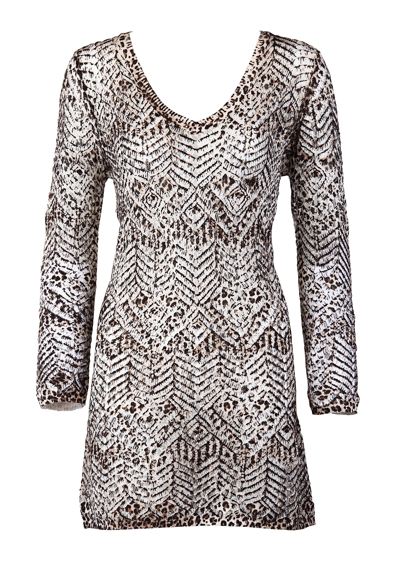 Twin set Simona Barbieri Leopard Knitted Dress | dolcifollie.co.uk