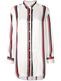 Ochre Bold Stripe Silk Sleep Shirt