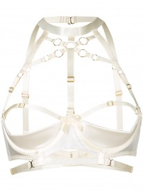 Ivory Bondage Shelf Bra
