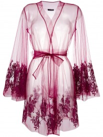 Colette Mini Robe With Lace Inserts