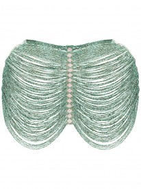 Green Beaded Shoulder Accessory