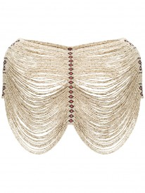 Ivory Beaded Shoulder Accessory