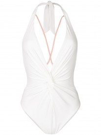 Ivory Strappy Knotted Swimsuit