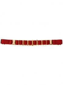 Amaya Rose Burnt Red Strap Collar