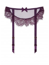 Idalia Plum Suspender Belt
