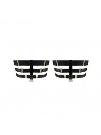 Art Deco Black Garters