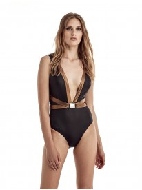 Beverly Black & Bronze Swimsuit