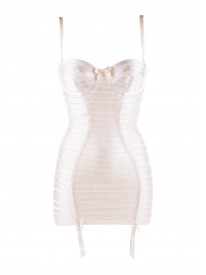 Angela Contour Ivory Strap Dress
