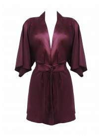 Burgundy Silk Robe