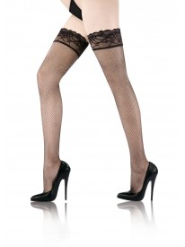 Reseda Lace Top Fishnet Hold-ups