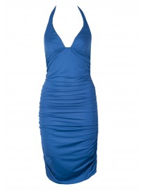 Tatto Blue Halter Beach Dress
