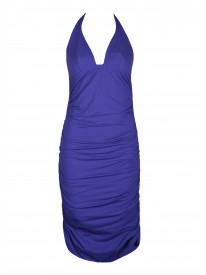 Tatto Purple Halter Beach Dress