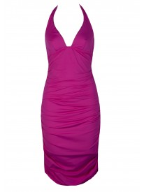 Tatto Pink Halter Beach Dress