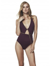 Claire Prune Swimsuit