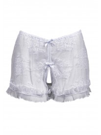 Ouvert White French Knicker