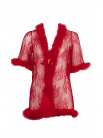 Marabou Red Negligee