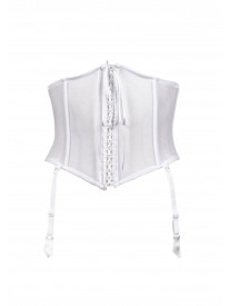 White Sheer Mesh Waspie
