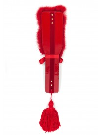 Rouge Fur & Leather Paddle
