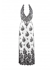 Parfum et Vitriol Lace Halter Maxi Dress