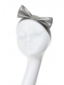 Silver Latex Hair Bow
