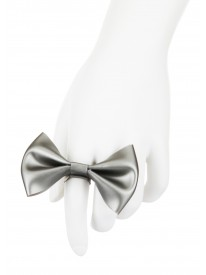 Silver Latex Bow Ring