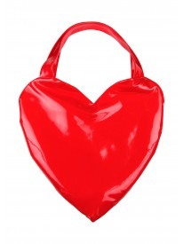 Giant Love Heart Patent Bag in Red