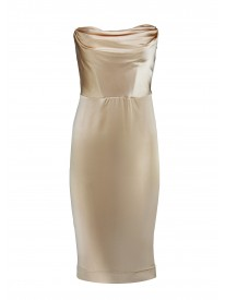 Heiress Gold Silk Dress