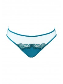 Capri Teal Silk Brief