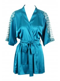 Capri Teal Silk Robe