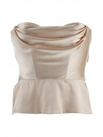 Heiress Gold Long Line Silk Top