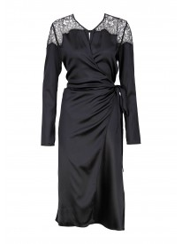 Odette Black Silk Nightgown