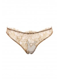 Gold Clarita Metallic Lace Panty