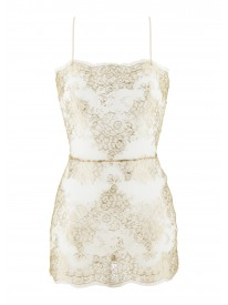Rita Gold Lace Slip