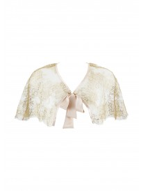 Audrey Gold Lace Cape