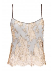 Gold Clarita Metallic Lace Camisole