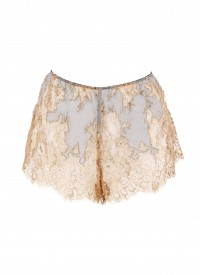 Gold Clarita Metallic Lace French shorts