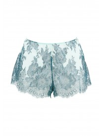 Blue Clarita Metallic Lace French shorts