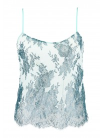 Blue Clarita Metallic Lace Camisole