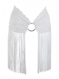 Fifi White Lace Fringed Skirt