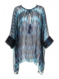Teal Diamond Beach Shirt