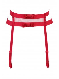 Audacieuse Red Suspender Belt