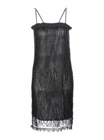 Clarita Black Bead Trimmed Dress
