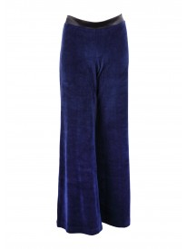 Carit Navy Velour Lounge Trousers