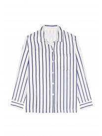 Navy stripe printed pyjama top