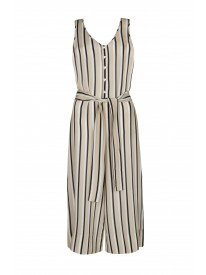 Neutral Twin Stripe Jumpsuit