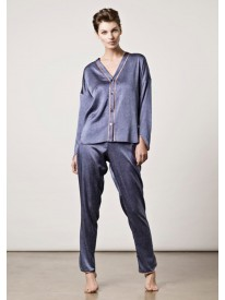 La Denim Silk Pyjamas