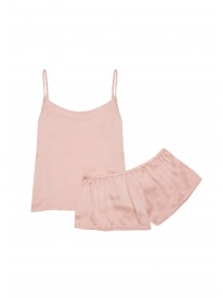 Pale Blush silk shorts