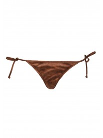 Tan Tie-side Bikini Bottoms