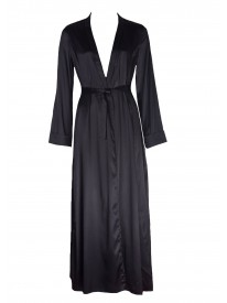 Rive Gauche Black Silk Gown