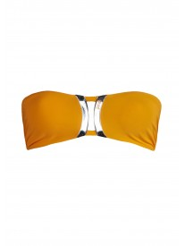 On ice Papaya Bandeau Bikini Top